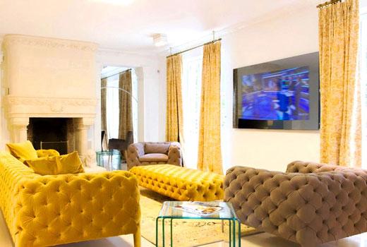 цвет мебели в маленькой гостиной