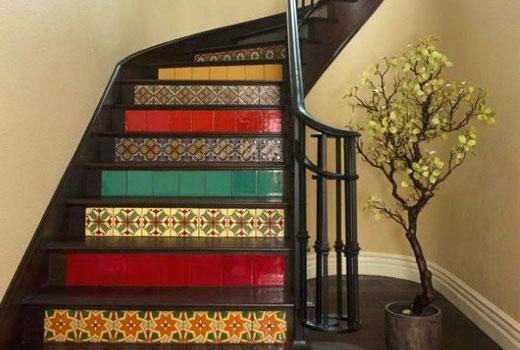 ступени лестницы метлахская плитка