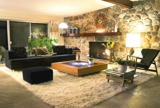 коврик мох в гостиной