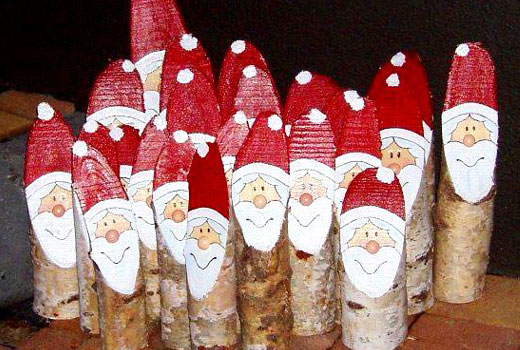 Дед Мороз из полена