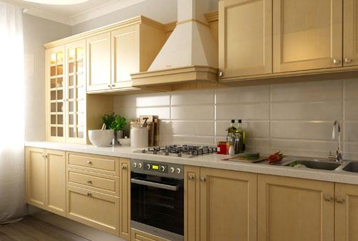 Облицовка кухонных стен