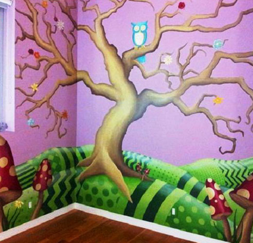волшебное дерево наклейка на стену