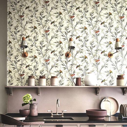 Обои кухонные с птицами
