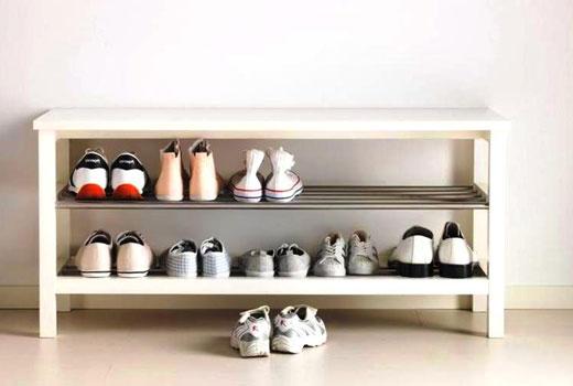 Простая обувная полка