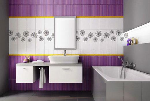 панели фиолетовые в ванной
