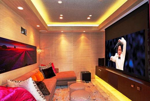 Панели стеновые в гостиной