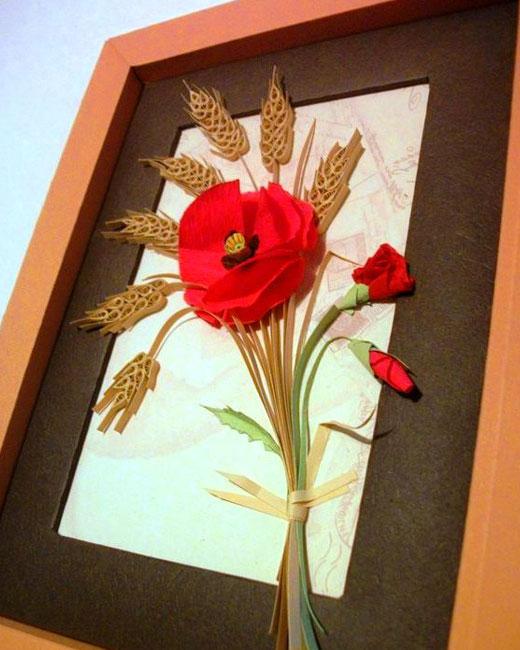 панно с маком цветок