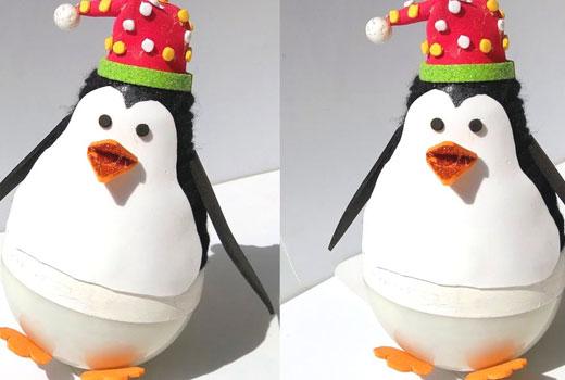 пингвины из лампочек