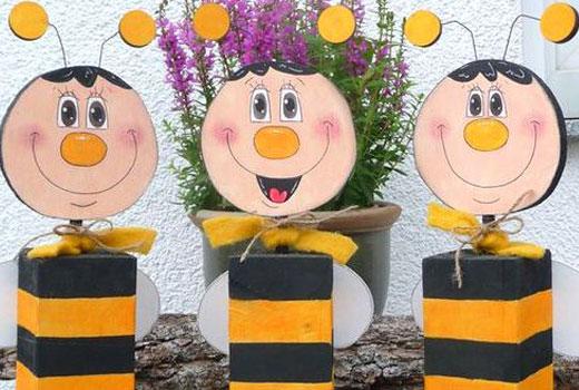 пчелки из дерева