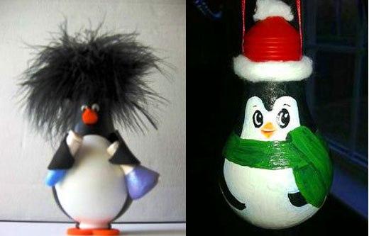 два пингвина на новогоднюю ель
