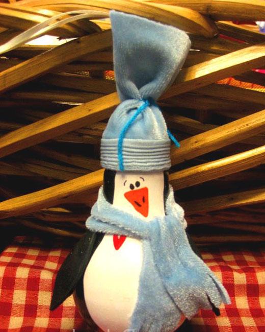 игрушка подвесная на елку пингвин