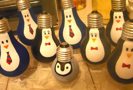 пингвины игрушки рождественские украшения