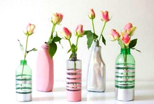вазы из пластиковых бутылок
