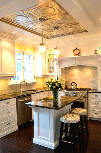 декор кухонного потолка пенополистирольная плитка