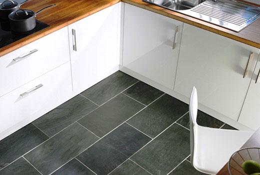 Пол на кухне плитка