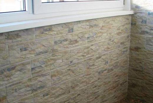 плитка под камень на балконе