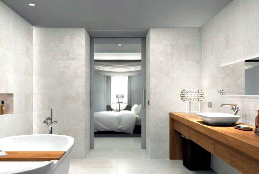 плитка серая в дизайне ванной