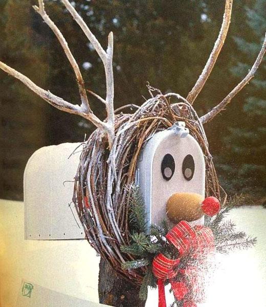 Как сделать оленя из почтового ящика