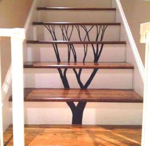 как разрисовать лестницу