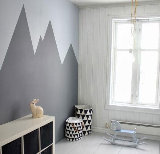 окрашивание стен в детской