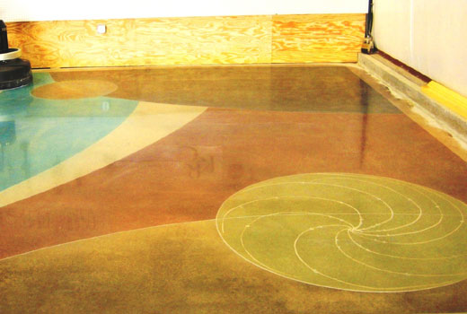 Пол бетон окрашенный
