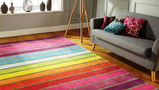 готсиная коврик цветные полосы