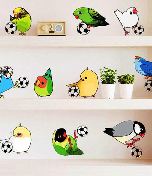 птички наклейки