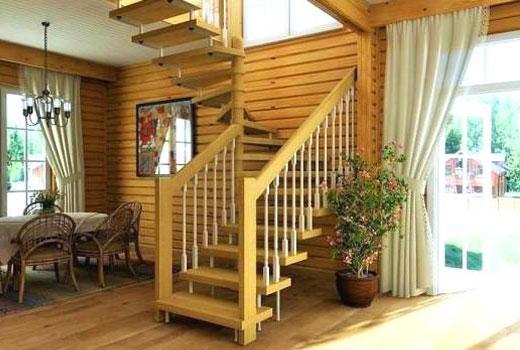 лестница дерево 16