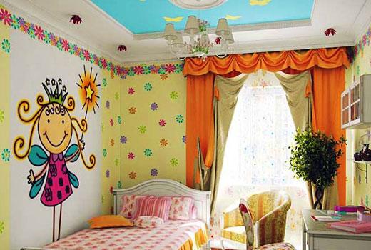 """Рисунок на стене """"принцесска"""""""