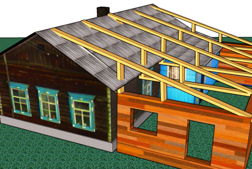 крыша пристройки