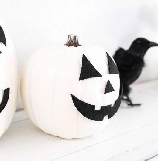 Аппликация тыква Хэллоуин