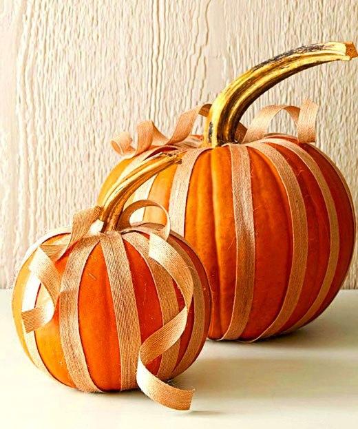 Хэллоуин простой декор тыквы