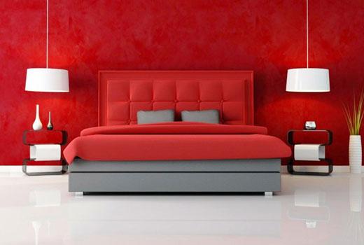 красный интерьер комнаты