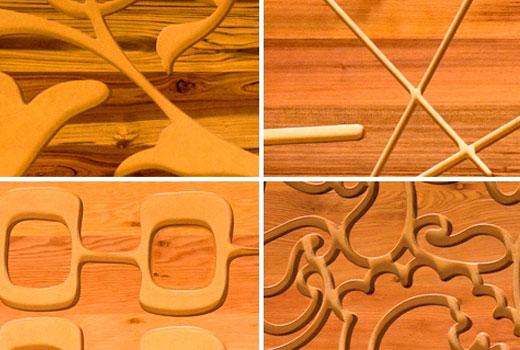 рисунки деревянных обоев