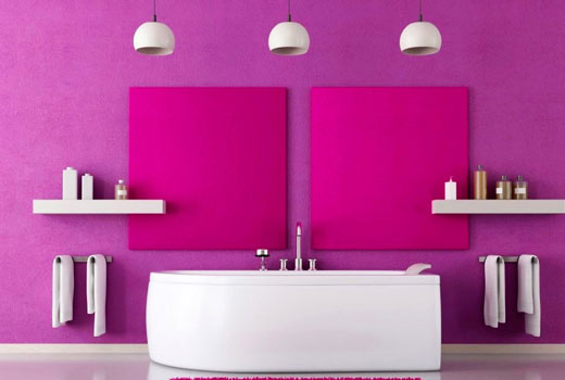 комната фиолетовая интерьер