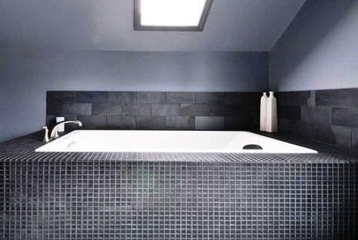 серая мозаика ванная