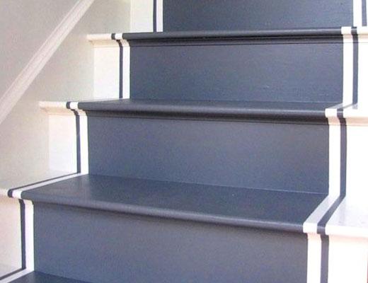 серая лестница ступени покраска