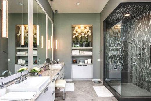 ванная покраска серый