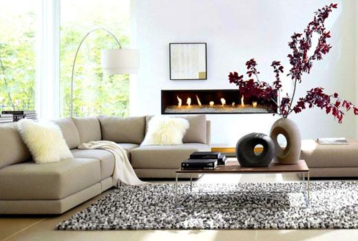 серый коврик в гостиной