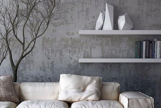 декор под бетон серый