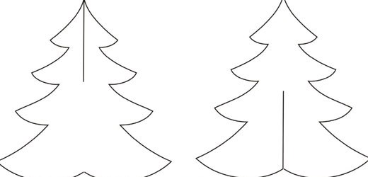 шаблон елочки новогодней