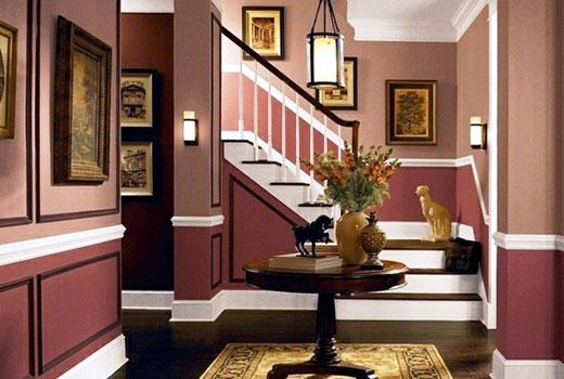 коричневый цвет в коридоре
