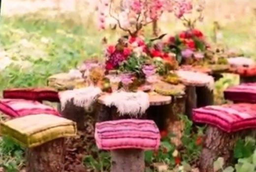 сидения в саду