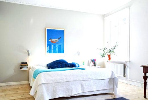 мебель в скандинавской спальне