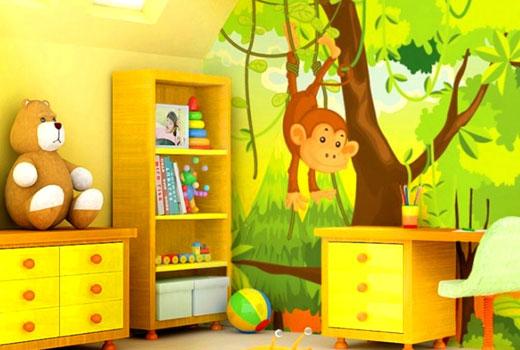 сказочные герои в декоре комнаты для ребенка