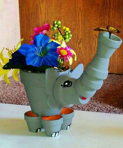 слон вазон