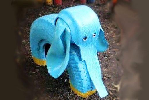 Слоник из шины