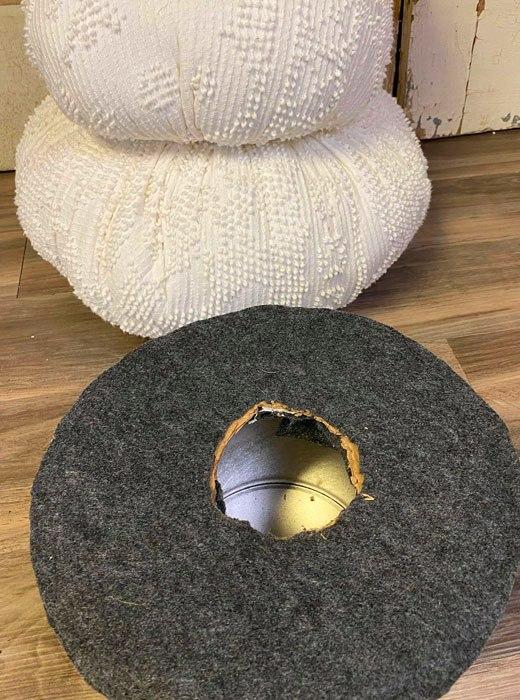 цилиндр снеговика из ткани