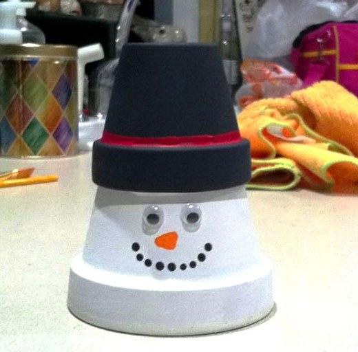 горшечный снеговик
