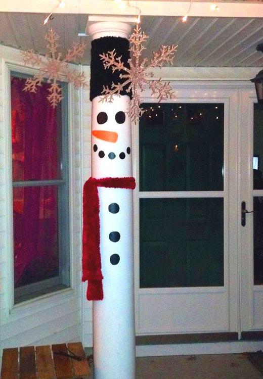 Снеговик из трубы